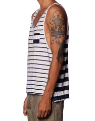 Bleach Navy Mixed Stripes Tank