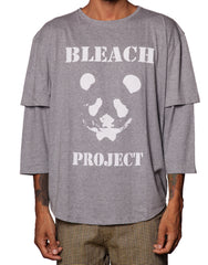 Bleach Long Sleeve Grey Printed Tee