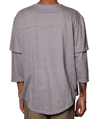 Bleach Double Sleeve Panda Tee Grey