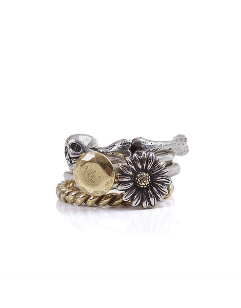 Beneath The Roses Life Cycle Stack Rings