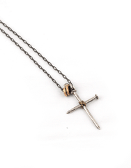 Beneath The Roses Nails Cross Necklace - Mens Necklace - Mens Jewelry