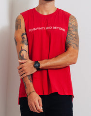 Bleach Project BUZZ Muscle Tee Red Details