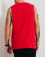 Bleach Project BUZZ Muscle Tee Red Back