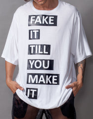 Bleach Fake It Oversized Tee Front