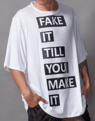 Bleach Fake It Oversized Tee