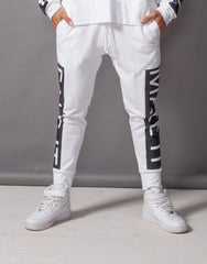Fake It Skinny Joggers White Front
