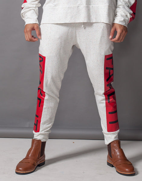 Bleach Fake It Skinny Joggers Red