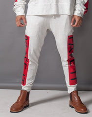 Bleach Fake It Skinny Joggers Red Front