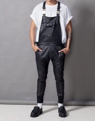 Bleach Leather Overalls Front