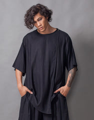Bleach Project Midnight Double Layers Oversize Top