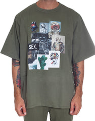 Bleach Project Army Of Me Oversized Tee Green Front 2