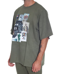 Bleach Project Army Of Me Oversized Tee Green Side