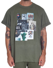 Bleach Project Army Of Me Oversized Tee Green Front