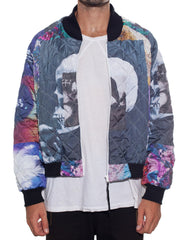 Bleach Mono Bomber Jacket Open Front