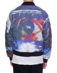 Bleach Mono Bomber Jacket Back