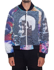 Bleach Mono Bomber Jacket Closed Front