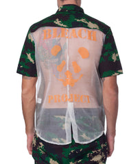 Bleach Sheer Back Camo Shirt