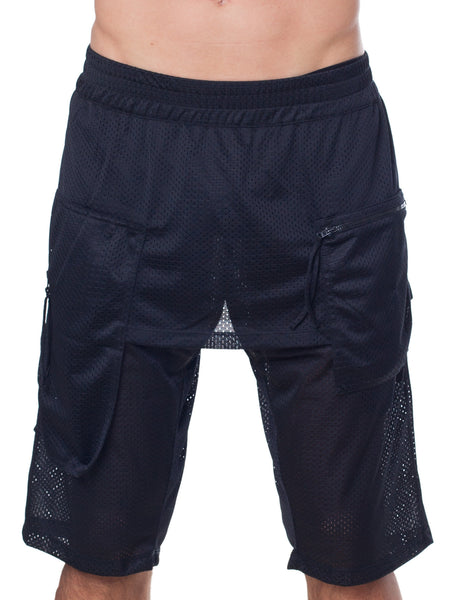 Bleach Basketball Pocket Shorts Black