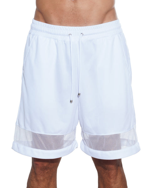 Bleach Mesh Panel Basketball Shorts