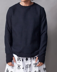 Bleach Project Thermal Pullover Black Front
