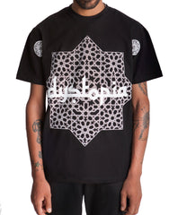 Dystopia Oversized Star Tee Black Front