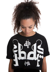 Dystopia Logo Crop Top Black Front