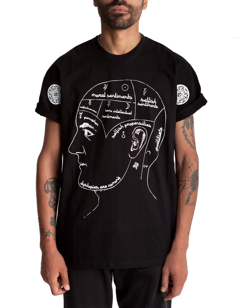 Dystopia Oversized Black Thoughts Tee