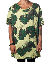EGR Camo Flower Tee - Printed All-Over Green Tshirt - Mens Tshirt