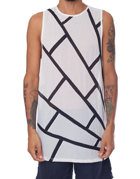 EGR Spider Web Singlet Black on White