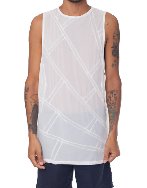 EGR Spider Web Singlet White on White