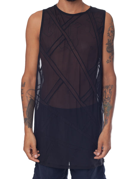 EGR Spider Web Singlet Black on Black