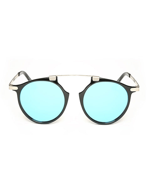 Eighty6 Mischief Black and Blue Sunglasses
