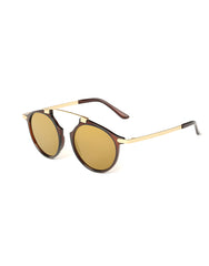 Eighty6 Mischiefs Brown and Gold Sunglasses Side