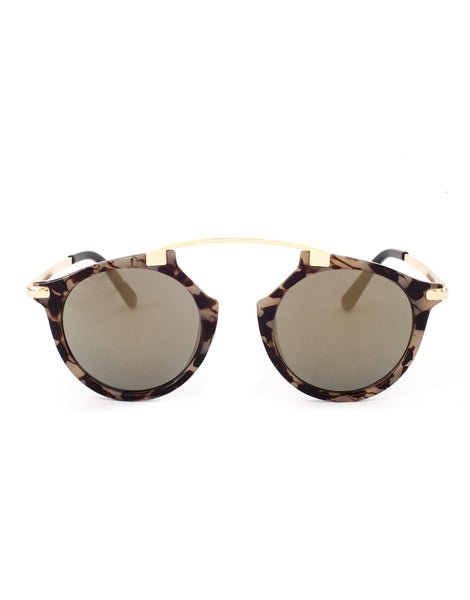 Eighty6 Mischief Brown Marble Sunglasses