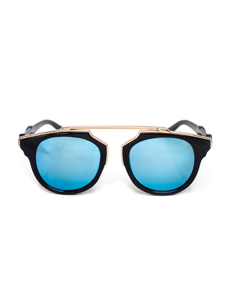 Eighty6 Overhang Black and Gold Sunnies