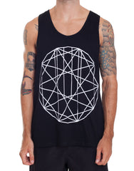Nemis Clothing GEO Tank Black Front