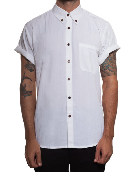 Handsome Me Short Sleeve White Shirt