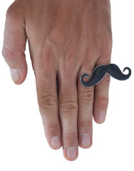 PASAR Moustache Ring hand