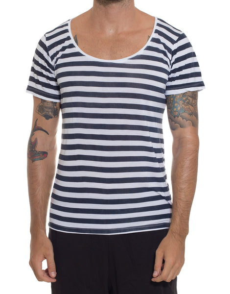 FRANKSLAND Rob's Sailor Tee Navy-White