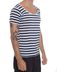FRANKSLAND Rob's Sailor Tee Navy-White SIDE