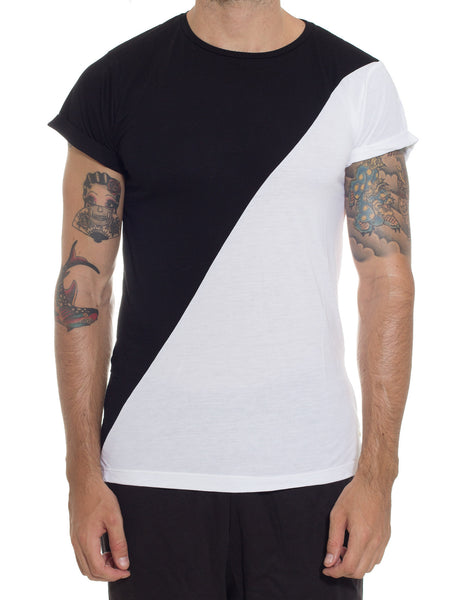 FRANKSLAND Black-White Zipper Tee
