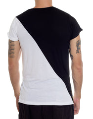 FRANKSLAND Black-White Zipper Tee Back