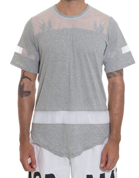 Bleach Hockey Mesh Tee Grey