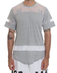 Bleach Hockey Mesh Tee Grey Front