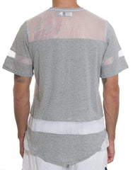Bleach Hockey Mesh Tee Grey Back