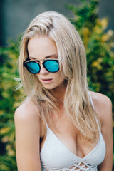 Eighty6 Overhang Black and Gold Sunnies Women