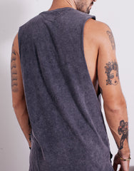 Bleach BP Square Muscle Tee Black Wash Back
