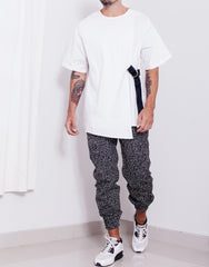 Bleach Crisp Double Layer Oversize Top Outfit Front