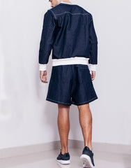 Bleach Utility Pleated Wide Shorts Outfit Back
