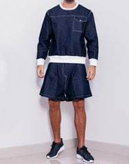 Bleach Utility Pleated Wide Shorts Outfit
